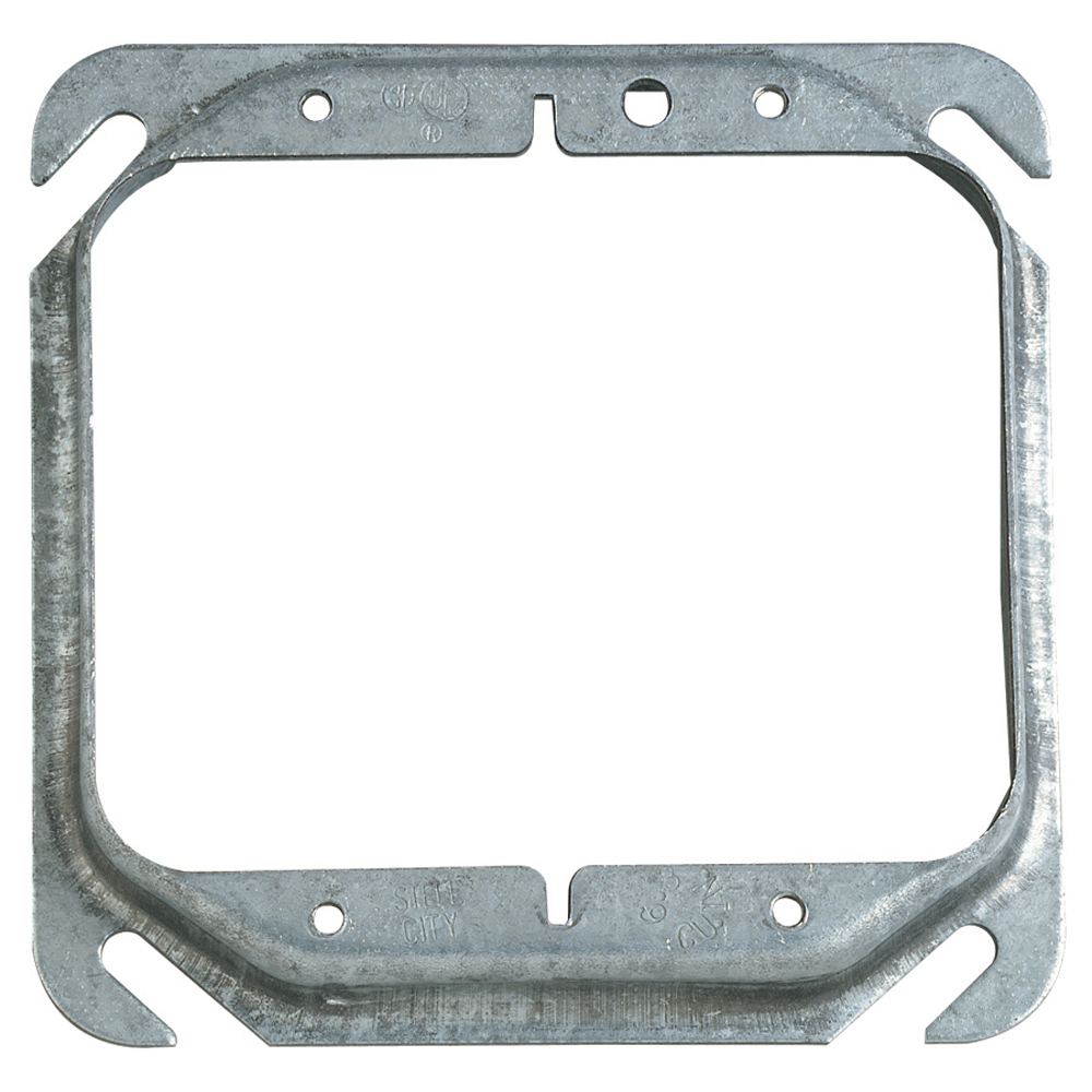STEEL-CITY 52C17-25 4-IN SQUARE RING 2G, 1/2IN RAISED, 6.3CU