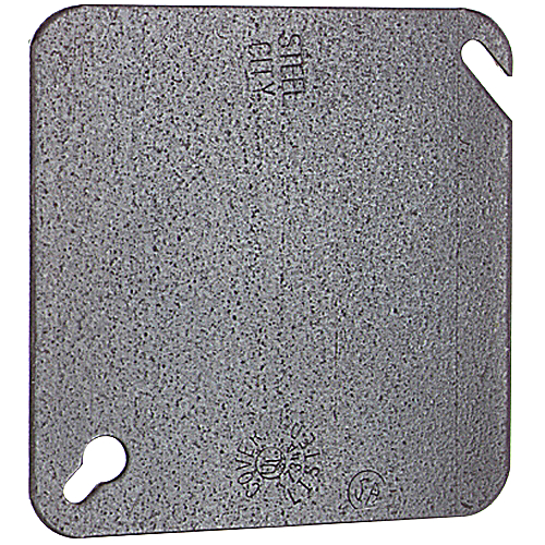 Steel City 52-C-1 4 In Square Blank Outlet Box Cover