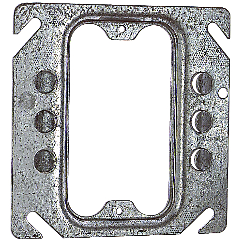 Steel City 52-C-62 4 in. Single Gang Square Box Device Cover, 1/4 in. Raised, Keyed for Plaster