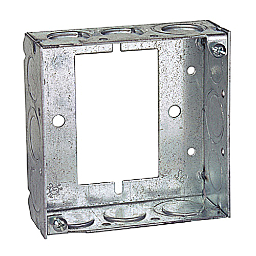 Steel City 531511234UB 4 in. Steel Square Box, Extension Ring