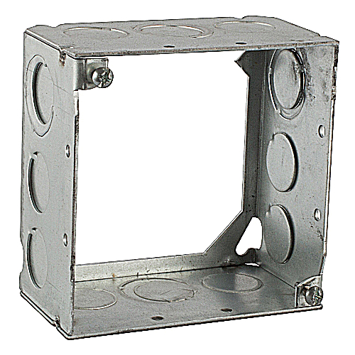 Steel City 531711234 4 in. Steel Square Box, 2-1/8 in. Deep, Extension Ring