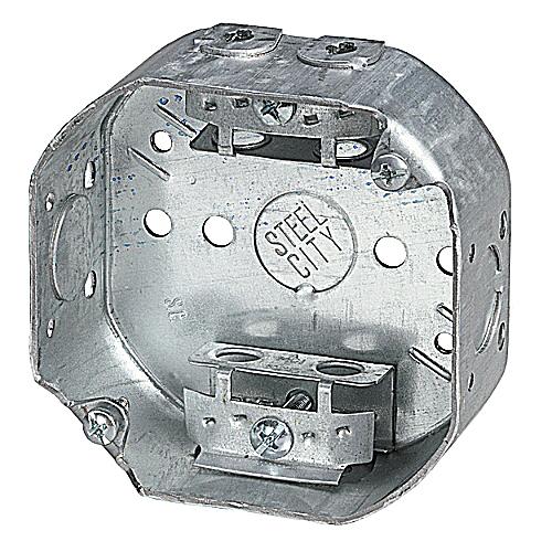 Steel City 54151-A 4OCTAGON BoxStl158CU12KoClamp