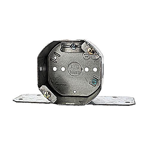 Steel City 54171-FCFB Pre-Galvanized Steel 4 In Octagon Ceiling Fan Support Box; 2 1/8 In Deep