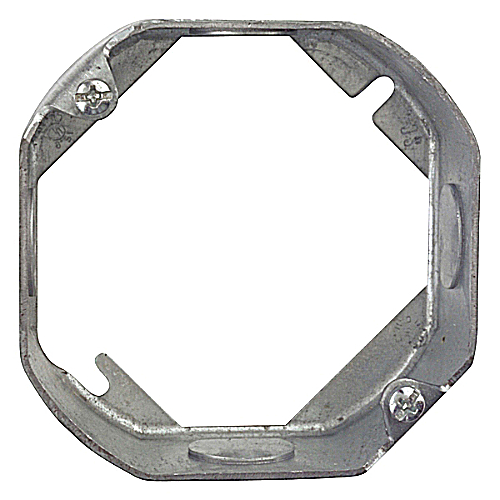 Steel City 551511/2-25 Steel City, 4 in. Pre-Galvanized Steel Octagon Box Extension Ring, 1 1/2 in. deep