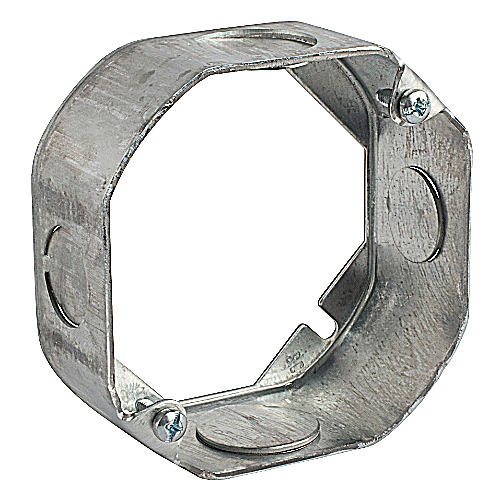 Steel City 55151-1/2-3/4 4 in. Octagon Box Extension Ring, 1 1/2 in. Deep, 1/2 in. and 3/4 in. Knockouts