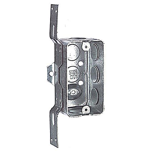 Steel City 58361-V-1/2 Steel Handy / Utility Box; 4 in. x 2 1/8 in. x 1 7/8 in., (10) 1/2 in. Knockouts, CV Bracket