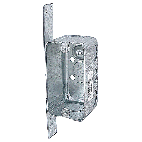 Steel City 58371V1/2-25 4 in. x 2 1/8 in. x 2 1/8 in. Handy/Utility Box with Knockouts & CV Bracket