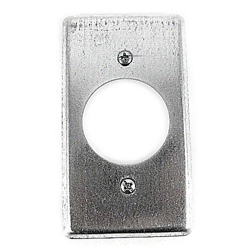 Steel City 58-C-4 Steel City, 4 in. x 2-1/8 in. Utility Device Cover, 1-19/32 in. Hole Dia., Pre-Galvanized Steel