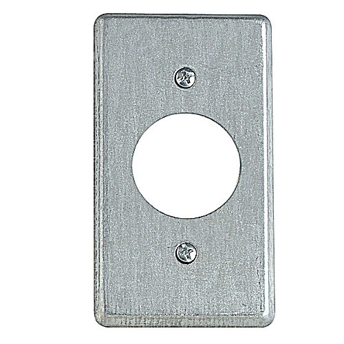 Steel City 58-C-5 Steel City, 4 in. x 2-1/8 in. Utility Device Cover, 1-13/32 in. Hole Dia., Pre-Galvanized Steel