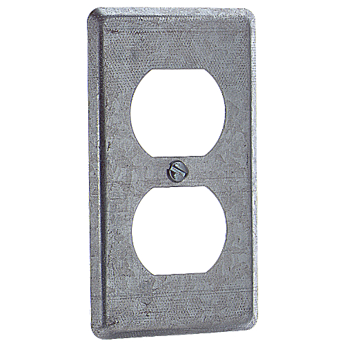 Steel City 58-C-7 4 in. x 2-1/8 in. Utility Device Cover, Duplex Receptacle, Pre-Galvanized Steel