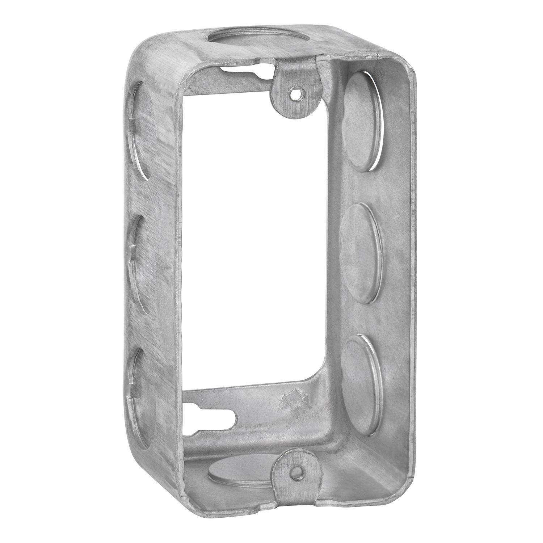 "Steel City 59361-1/2 4"" x 2-1/8"" x 1-7/8"" Steel Handy/Utility Box Extension Ring, 13 cu.in."