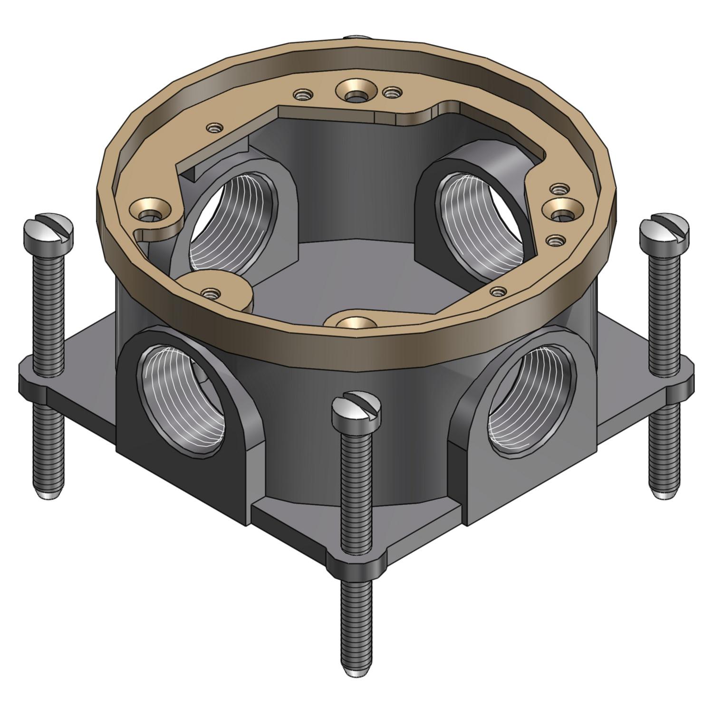 STL-CTY 604SC CAST IRON FLOOR BOX