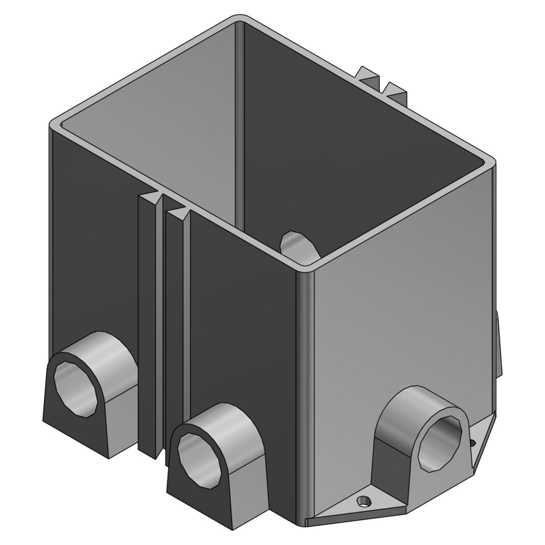 STL-CTY 642P 2G PLASTIC FLOOR BOX