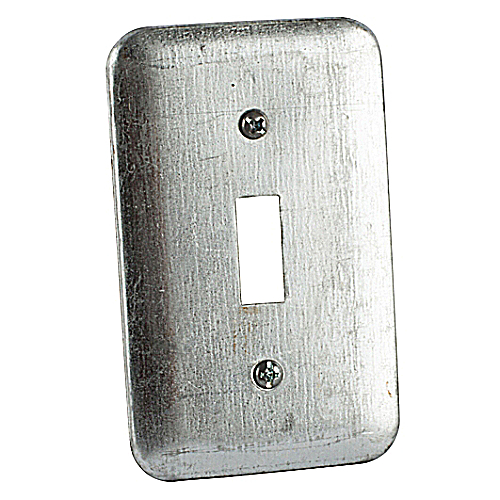 Steel City 68-C-30 4 1/8 in. x 2 1/2 in. Pre-Galvanized Steel Utility Device Cover, Raised