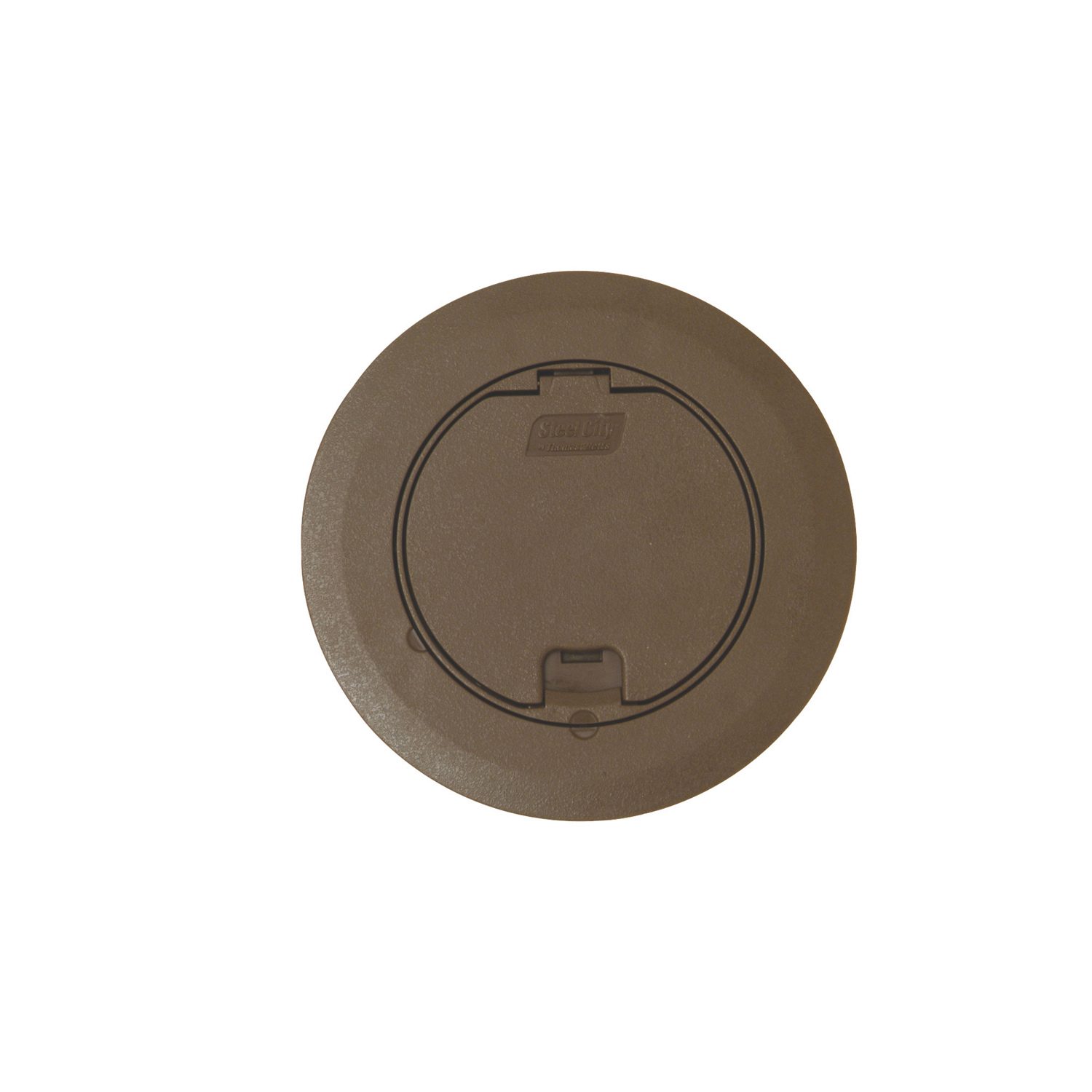 ROUND RECESSED COVER - BROWN