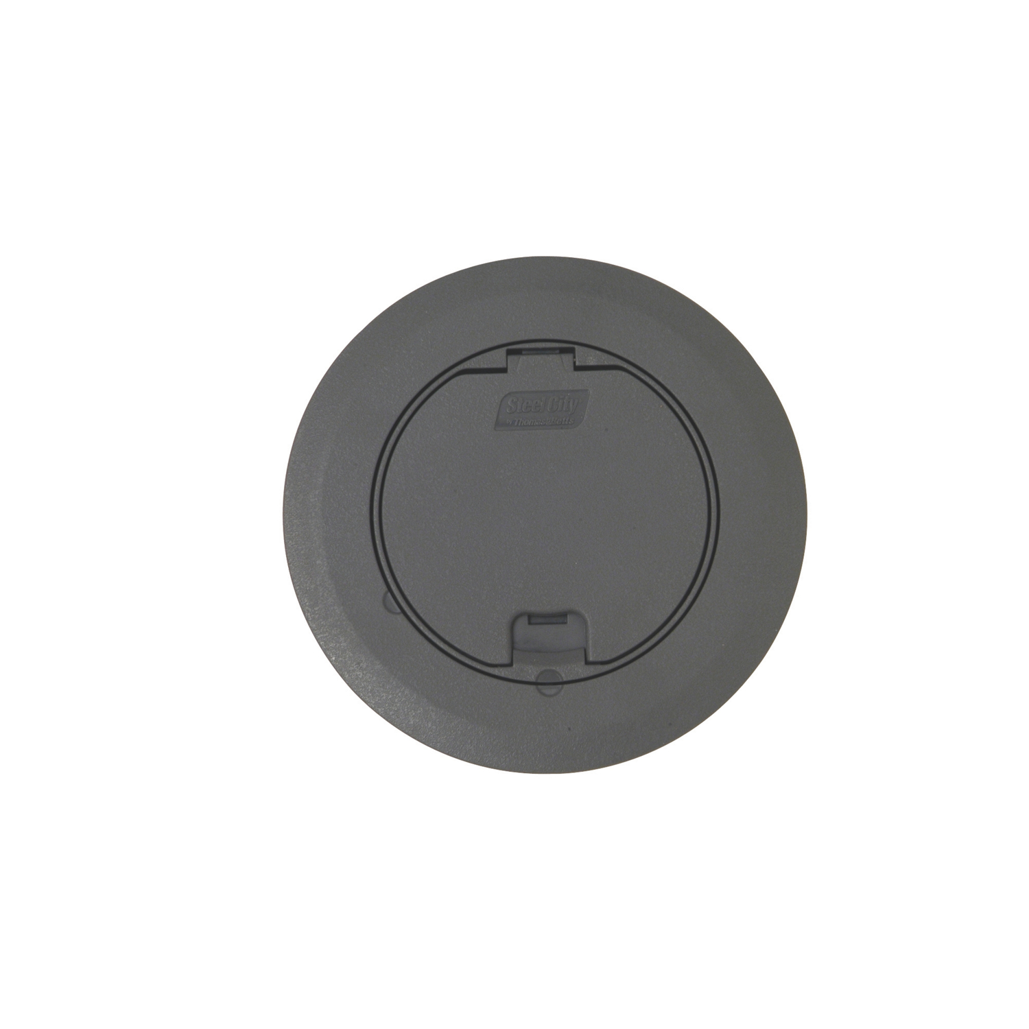 ROUND RECESSED COVER - GRAY