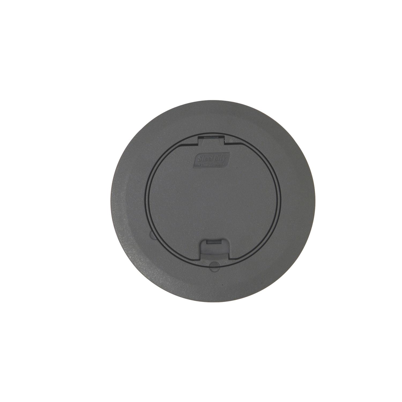 STL-CTY 68R-CST-GRY FLR BOX CVR KITROUND RECESSED COVER - GRAY