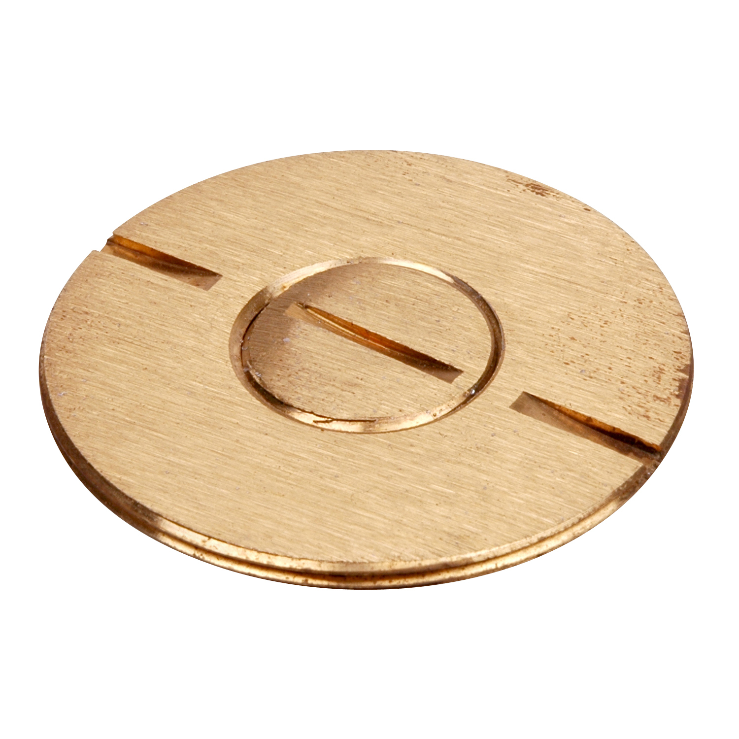 Steel City® 693-SC Flush Service Floor Plate Plug Insert, For Use With Floor Plate Cover, Brass