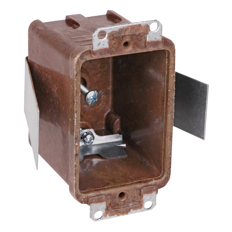 "TB 7010-8 3-1/4x2-3/16x2-11/16"" DSwitch Outlet Box 1 Gang BracketOld Work Phenolic Nonmetallic"