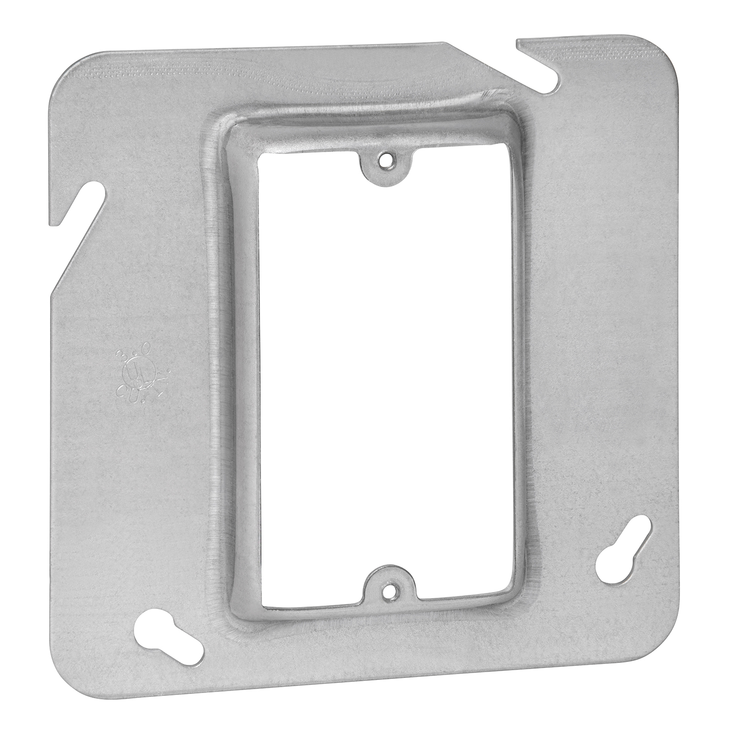 STEELCTY 72C13 4-11/16-IN SQUARE BOX COVER, STEEL, 3CU, RAISED