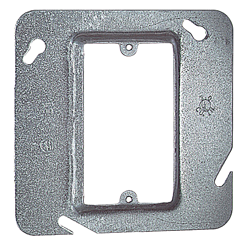 Steel City 72-C-13 4 11/16 in. Single Gang Steel Square Box Device Cover, 1/2 in. Raised