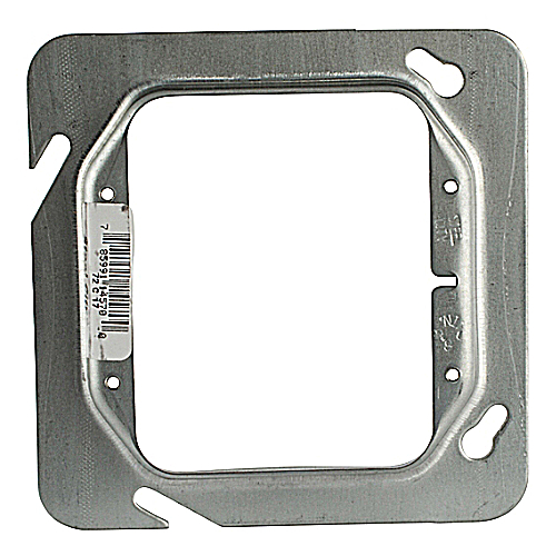 Steel City 72-C-17 4 11/16 in. Two Gang Steel Square Box Device Cover, 1/2 in. Raised