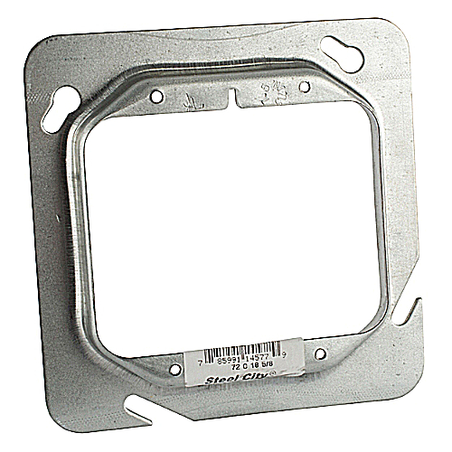 Steel City 72-C-18-5/8 Steel 4 11/16 In Square Box Device Cover