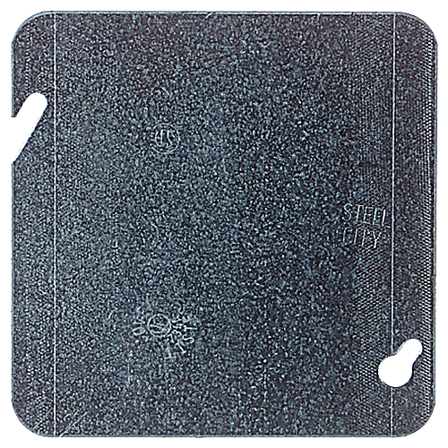 Steel City 72-C-1 4-11/16 in. Square Flat Blank Cover