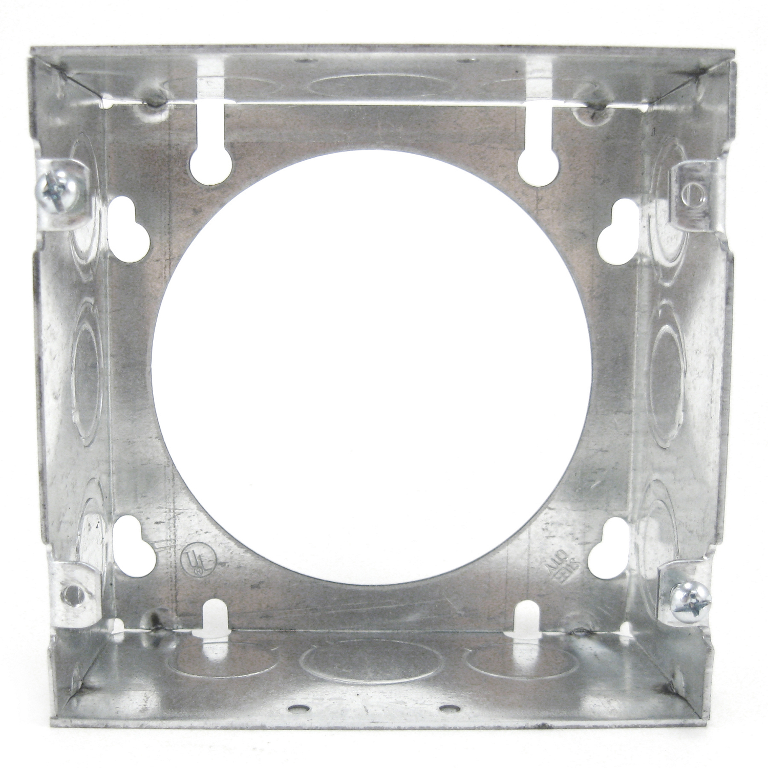 """Steel City 73171-1/2-3/4 4-11/16"""" Steel Square Box Extension Ring, 2-1/8"""" Deep, 42 cu.in."""