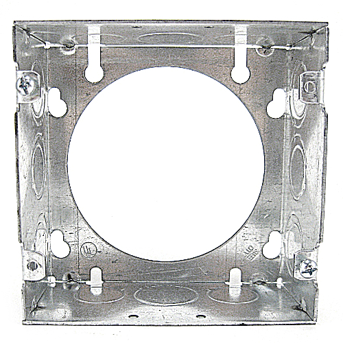 Steel City 73171-1/2-3/4 Pre-Galvanized Welded Steel Square Box Extension Ring; 4-11/16 In, 42 Cubic In