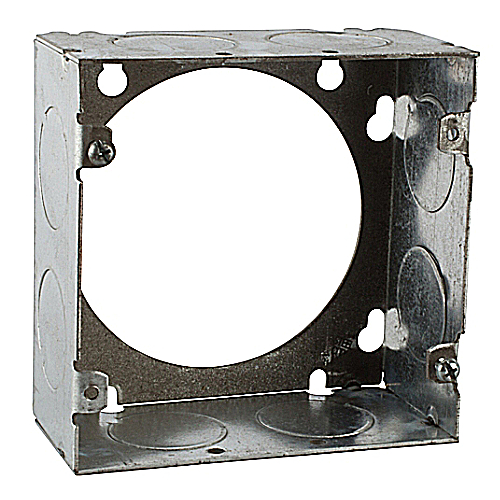 Steel City 73171-1 4 11/16 in. Square Box Extension Ring, 2 1/8 in. Deep, 1 in. Knockouts