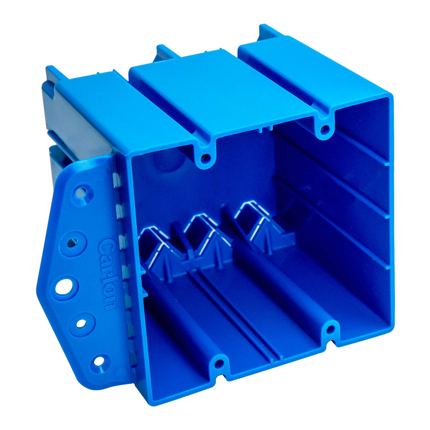 Boxes Enclosures Fittings Non Metallic Accessories 3 Gang Light Switch Box 2g Blue Multipurpose Electrical Outlet Wood Or Steel Studs Captive