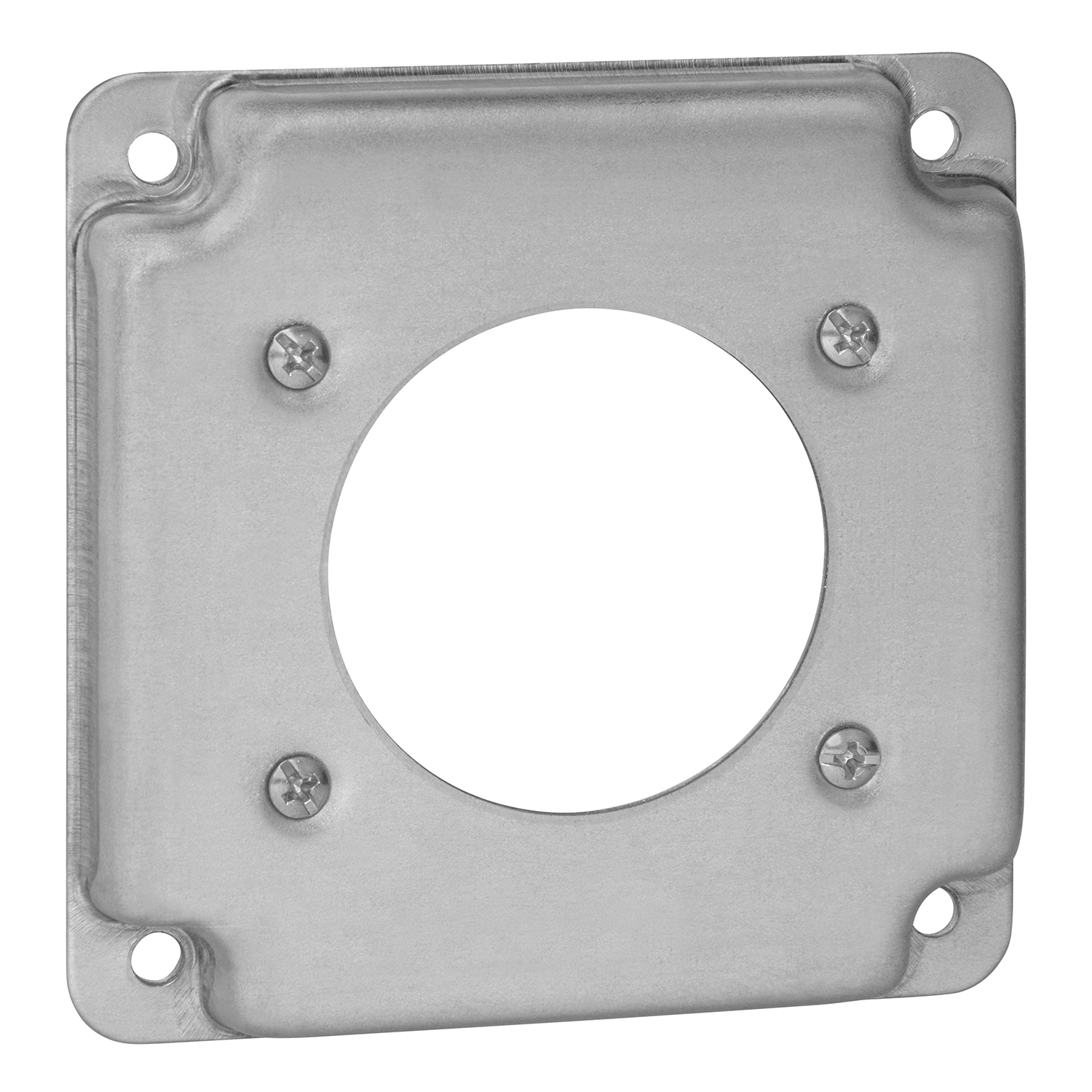 """STEELCTY RS13 4"""" SQUARE BOX COVER, STEEL, 5CU, 1-30/50A RECEPTACLE"""