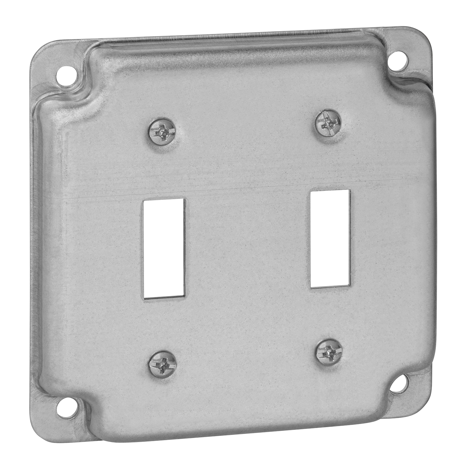 """STEELCTY RS5 4"""" SQUARE SURFACE COVER 5CU 2-TOGGLE 1/2"""" RAISED"""