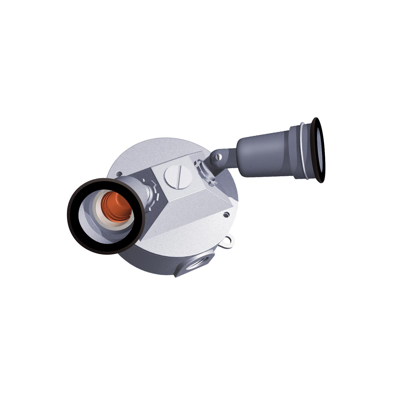 2 LAMP RND BOX KIT SILV TRAD W/GASK