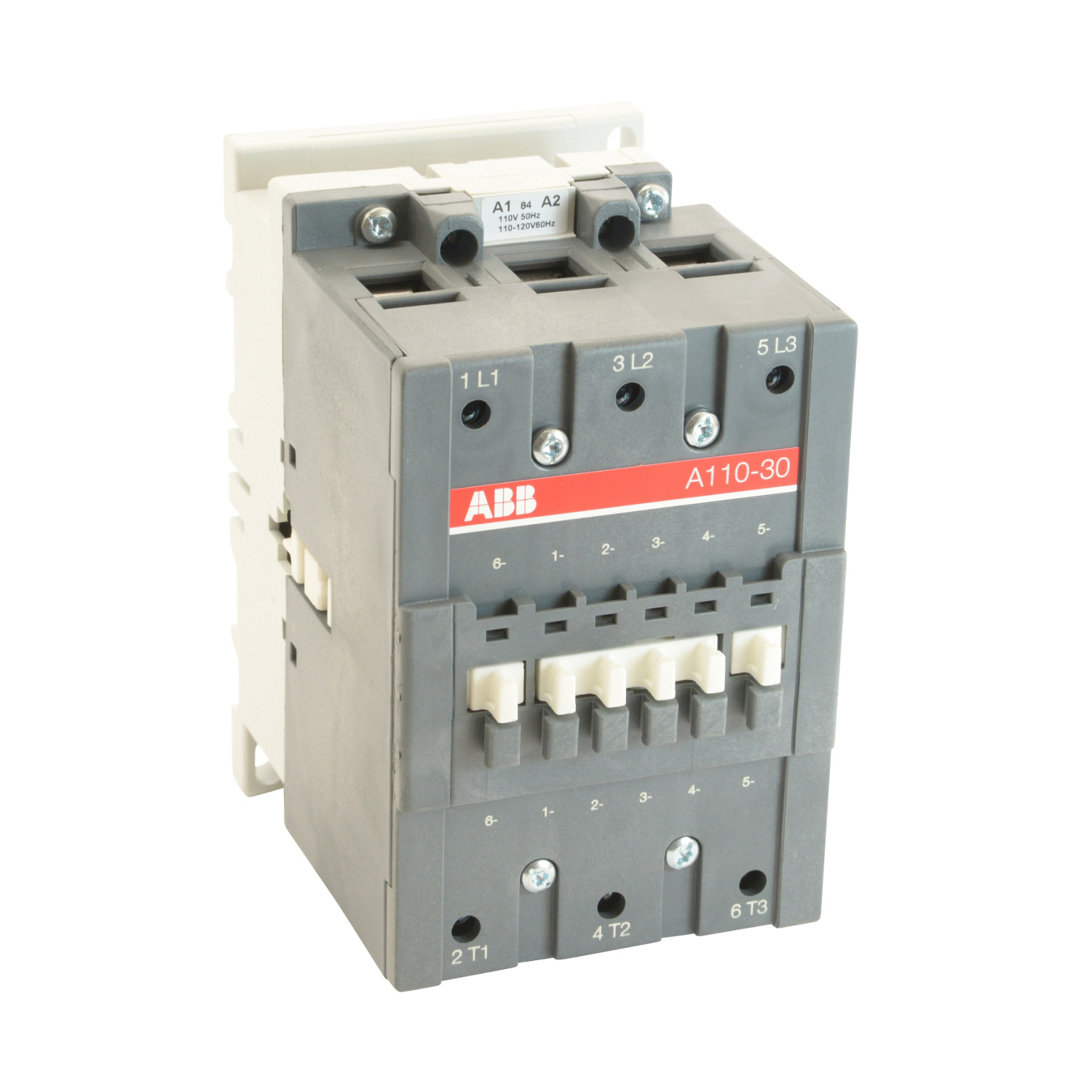 3 pole, 160 amp, non-reversing across the line contactor with 110-