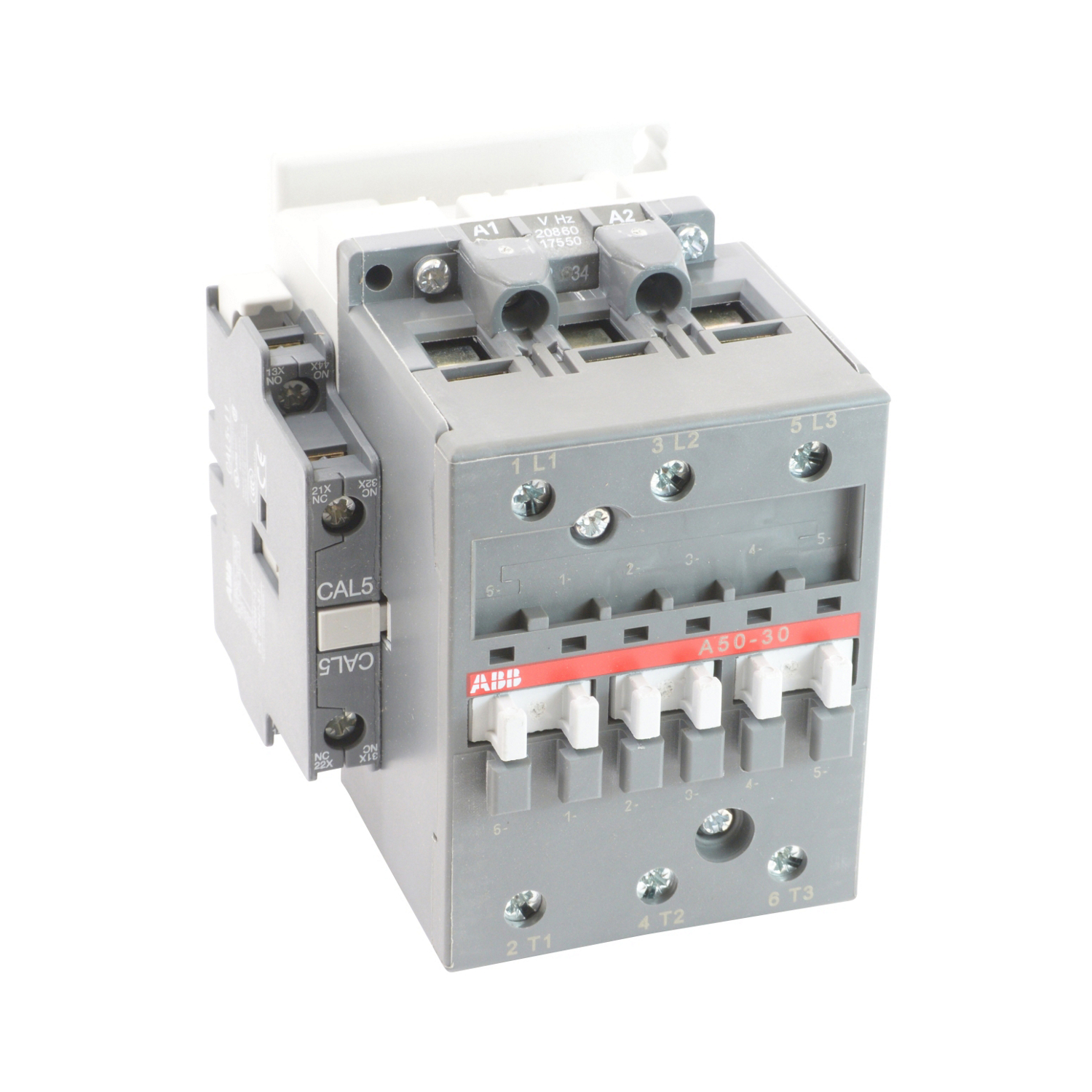 3 pole, 55 amp, non-reversing across the line contactor with 208V AC