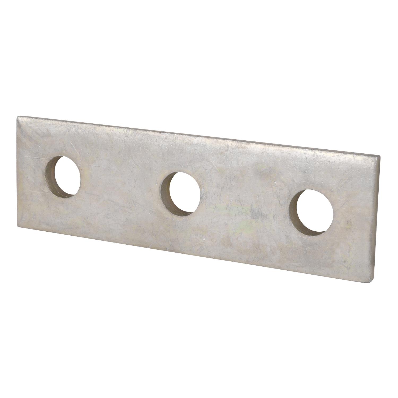 Superstrut AB207-EG Three-Hole Steel Splice Plate w/ SilverGalv finish
