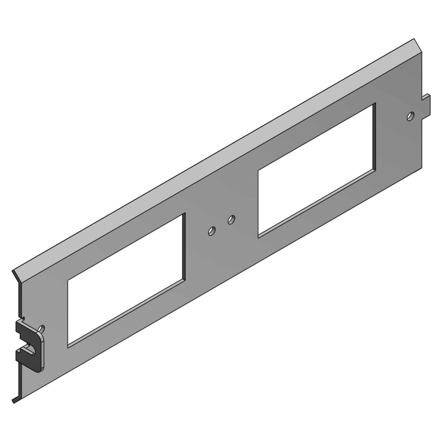 Steel City® AFP-6-GFCI-45 45 deg Sloped Power Panel With 2-GFCI, Steel