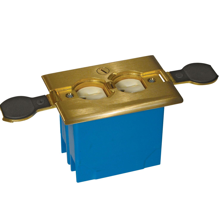 1G 20 CU IN ADJ FLR BOX - BRS CVR