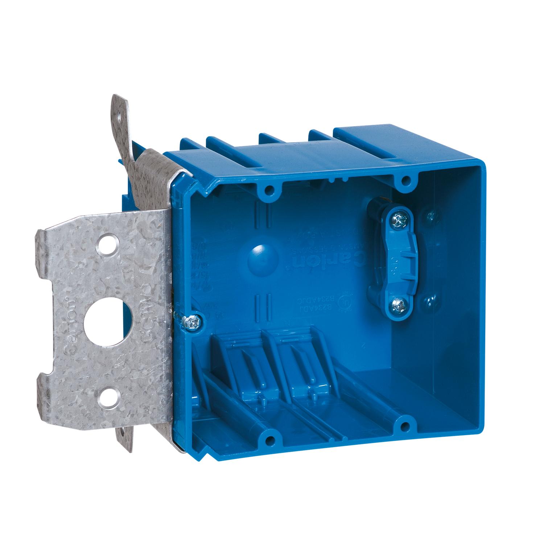 Carlon B234ADJC 2-Gang Adjustable Electric Box with Side Clamp