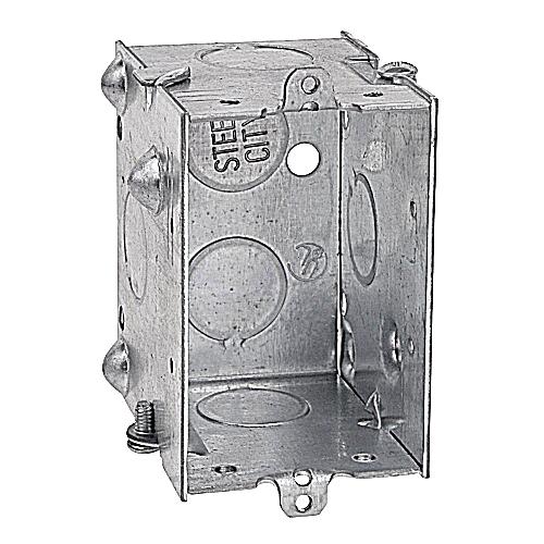 Steel City CDLE-25 3 in.x2 in.x2 1/2 in. Gangable Switch Box, 1/2 in. Knockouts