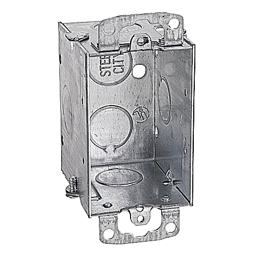 Steel City CDOW Non-Gangable Old Work Switch Box; 1/2 in. Knockouts;  3 in.x 2 in.x 2 1/2 in.