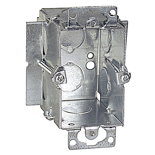 Steel City CDOWTG-25 Pre-Galvanized Steel Gangable Old Work Switch / Outlet Box; 3 In x 2 In x 2-1/2 In