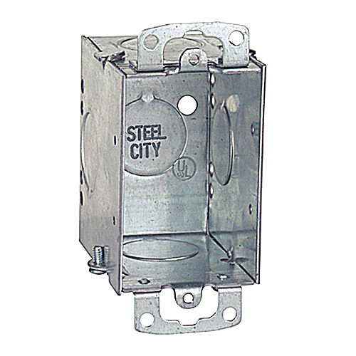 Steel City CW3/4-25 Gangable Old Work Switch Box; 3/4 in. Knockouts, 3 in.x 2 in.x 2 3/4 in