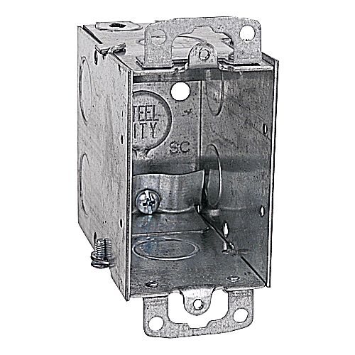 Steel City CXWOW One Gang 18 cu.in. steel Switch Box For use With 68R Covers