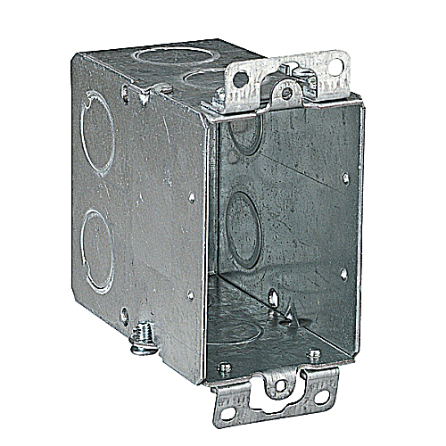 Steel City CY-1/2 Gangable Switch Box; 3 1/2 Inch Depth, 9 Knockouts