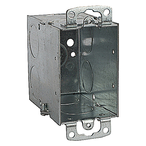Steel City CY-3/4 Gangable Old Work Switch Box, 3/4 in. Knockouts, 3 in.x2 in.x 3 1/2 in.