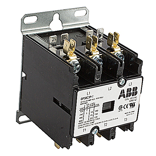 ABB DP30C3P-1 Definite Purpose Contactor; 3 Pole