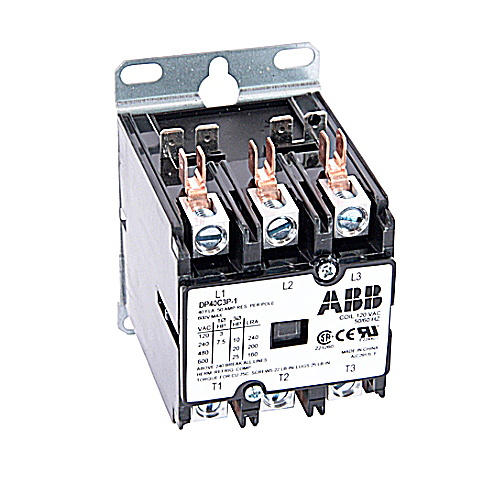 ABB DP40C3P-1 Definite Purpose Contactor; 3 Pole, 40 Amp